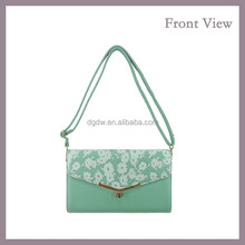 2015 New Fashion Plain Cute Shoulder Bag with Flower Pattern