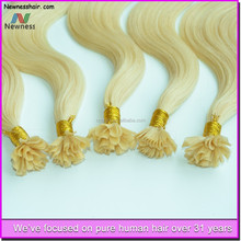 Hot Sales!i tip keratin pre bonded hair extension/human hair i tip extension/keratin i tipped hair