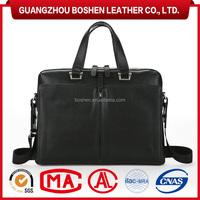 100% Genuine Leather lawyer briefcase men's laptop bag