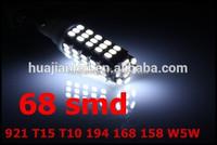 6000K WHITE HIGH POWER 68 smd led Back Up Reverse 921 T15 T10 194 168 158 W5W LED SIDE MARKER/PARKING SIGNAL LIGHT BULBS