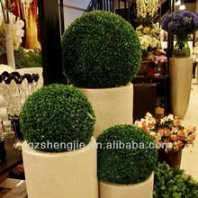 Artificiale bosso arte topiaria palla erba, palle di erba topiaria