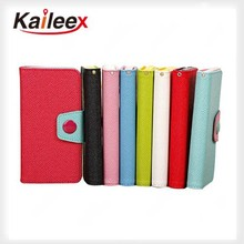 For iPhone 5 Double Color Wallet Leather Case