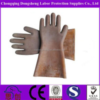 Class 2 electrical insulated high voltage safety gloves 25kv