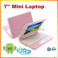 "7"" laptop netbook without dvd drive WM8850 Android 4.1 7 inch mini netbook laptop notebook wifi"
