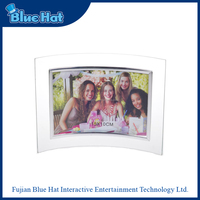 New design curved glass photo frames wholesale
