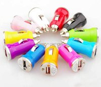 Mini USB Car Charger USB Charger Universal Adapter for iphone 5 4 4S 6 Cell Phone PDA MP3 MP4 player mobile i9500 s3 m7