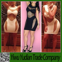 2015 new desgin sexy dress fashion Europe and the United States Translucent appeal dress