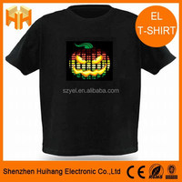 Men's Fashion Music Sound Activated LED Flashing Light Stripes T-Shirt
