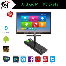 Factory price RK3188 t Quad Core TV Stick CX919 tv dongle with Android 4.4 2G /8G tvs full hd mini pc XBMC KDOI IPTV installed
