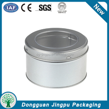 White round metal small box