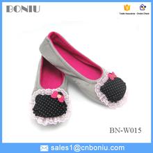 En peluche vamp tpr semelle nouvelle mode doux casual chaussures de danse pour femmes