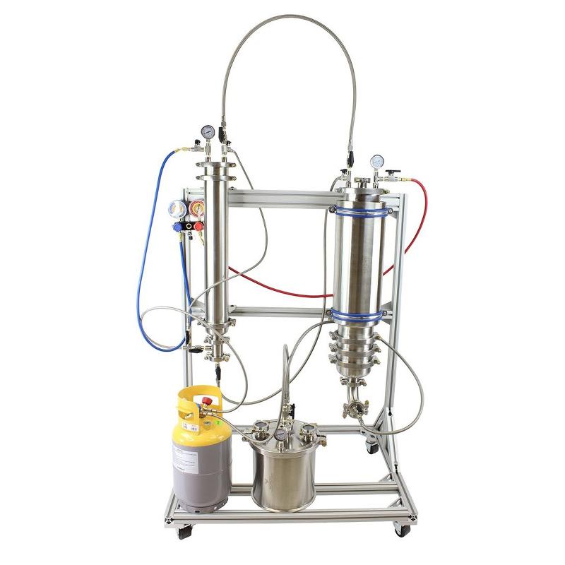 Etanol Extractor heksan bütan Çözücü Ekstraksiyonu Makinesi Tesisi Kenevir CBD Uçucu yağ çıkarma ekipmanları