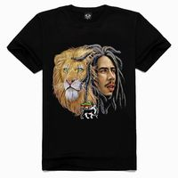 2015 OEM Bob marley sublimation shirt for couple cheap t shirt printing lion