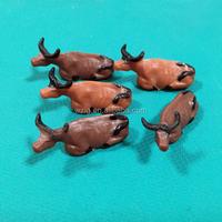 1:87 Scale 2cm Farm Animal Toy Cow Plastic Bull Toy Mini Cow Model