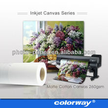 Hot! Roll size 100GSM Art Fabirc Inkjet canvas matte canvas for Large Format Printer pigment/dye ink