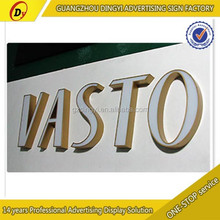 laser cut brass plating stainless steel return acrylic channel letters