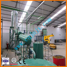 Small-scale factory change black oil into clean yellow diesel oil !JNC china used motor oil refinery