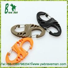 S-biner Carabiner Plastic Clip Snap Hook for Camping or Backpack Gear/ Hang Buckle for Holding Keys