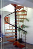 cast iron spiral stair/stainless steel railing spiral stairs/space saving spiral staircase