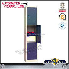 2015 factory direct sale Office Steel Filing Cabinet Dubai Style , 3 Door Steel Bedroom Cupboard Design