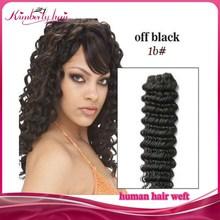 New Arrival Cheap Deep Wave Off Black Color Virgin Malaysian Human Hair Weave Weft