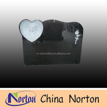 simple design black granite cheap tombstone NTGT-119
