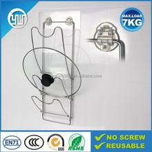 kitchen wall mount washable pot lid rack, pot cover holder