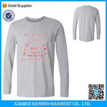 High Quality 100% Cotton Custom Long Sleeve T Shirt Normal Fit Men