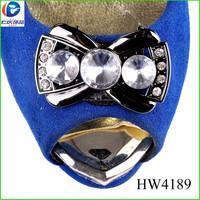 HW4189 yiwu futian market high heel shoes buckle for women