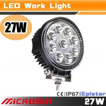 JEEP SUV 27w led tuning light off road Truck led work bar 48w Auto led work light for marine