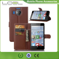 New lichee pattern flip leather wallet case cover for Nokia Lumia 950XL with card slot