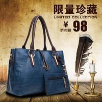Alibaba supplier fashionable classical design small MOQ 2 in 1 shop handbag online