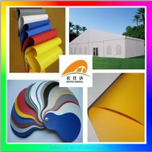 PVC tarps for tent fabric