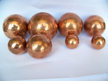 Hollow solid brass copper balls polished finish