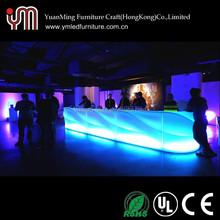 Colorful Plastic Led Bar Table / Led Bar Counter / Led Bar Furniture