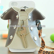 FL2435 2013 Guangzhou hot selling clothes design key holder pc cover phone case with sling for iphone 5 5G