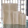gold stamping kraft paper tea bag with zip tops