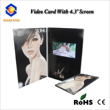 2014 new video greeting card advertising video card promotional gift video wedding invitation card