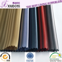 Free sample 100% Polyester Dobby lining fabric Shaoxing manufacturer