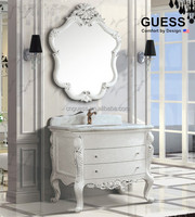Antique white plywood furniture/solid wood floor mounted bathroom vanity G-A10078