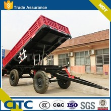 CITC tipping type four wheel farm trailer with draw bar for sale