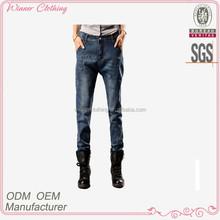 top fashion jeans design capris slim fit washed hard wear 100% cotton latest design jeans pants