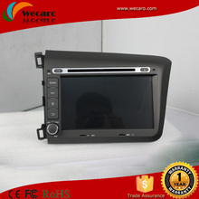 Wecaro android 4.4 touch screen car dvd player for honda civic 2012