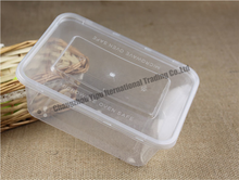 Clear plastic hinged food container