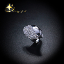 Hot new deisgn ring plating platinum with cz, wholesale brass rings for women, factory price of rings for Brazil XYR101137