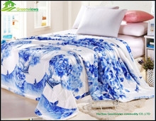 Colorful comfortable cotton thin cheap printed polyester silk bamboo quilt printing flower thin quilt bed set be sheet GVNNJ0004
