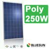 Bluesun china solar panels cost poly 24v 250w , poly 250 watts