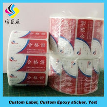 Waterproof Best Quality Paper produced self Adhesive PE label in Roll
