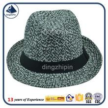 Funky headwear straw weave fedora hat