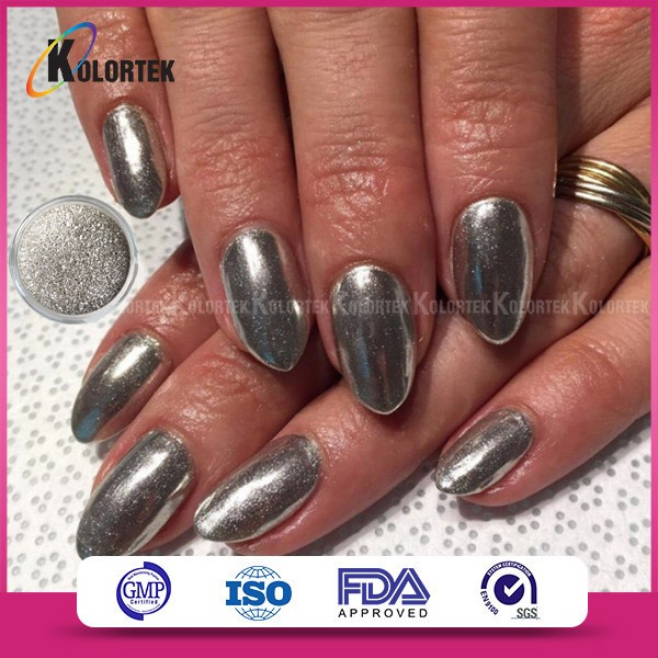 Pigment effet miroir ongles for Vernis a ongle miroir